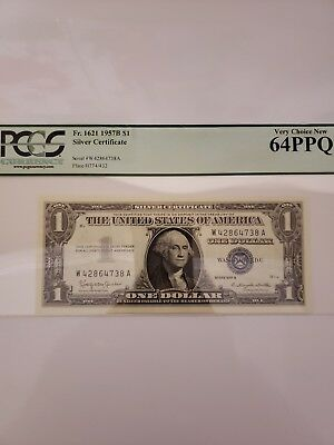 pcgs silver certificate very choice new 1 dollar bill