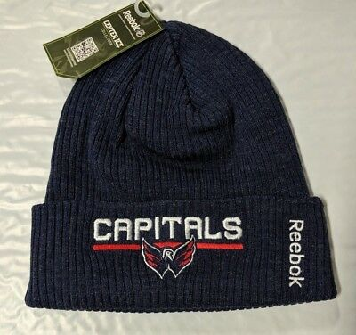 Washington Capitals Knit Beanie Toque Winter Hat Cap NHL New Center Ice  Cuffed cc55ce93cca8