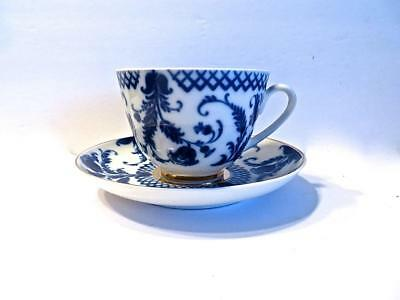 Russian Lomonosov Imperial Porcelain Cup & Saucer Plate with Thistles No Reserve