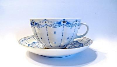 USSR Period Russian Lomonosov Imperial Porcelain Lace Pattern Cup & Saucer
