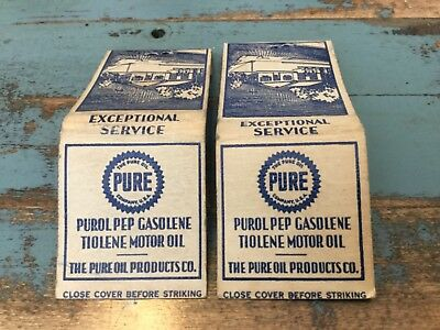 Vintage 1930's PURE OIL COMPANY matchbooks