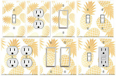 Golden Pineapple - Graphics Art Toggle/Rocker/GFCI/Outlet Wall Plate