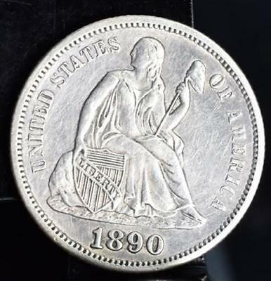 1890-S Seated Liberty Silver Dime