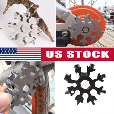 Portable Incredible 18-in-1 Stainless Steel Snowflakes Shape Manual Multi-tool