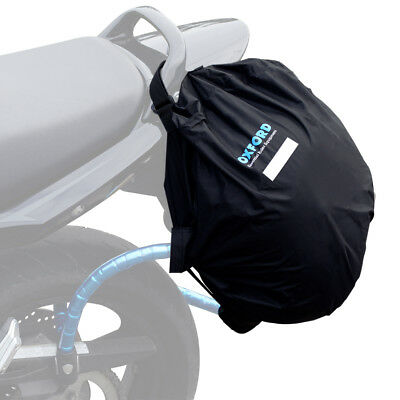 Oxford Lidlocker Weatherproof Lockable Motorcycle Helmet Bag Luggage OX624 Black