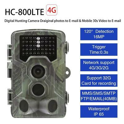4G 3G 1080P 16MP Caméra infrarouge Sentier de chasse GSM MMS SMTP IR Nuit Vision