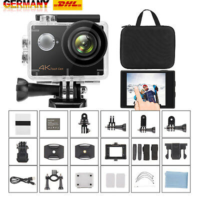 ieGeek 4K Full HD WiFi Sport Aktion kamera Touchscreen Cam wasserdicht 30fps16MP