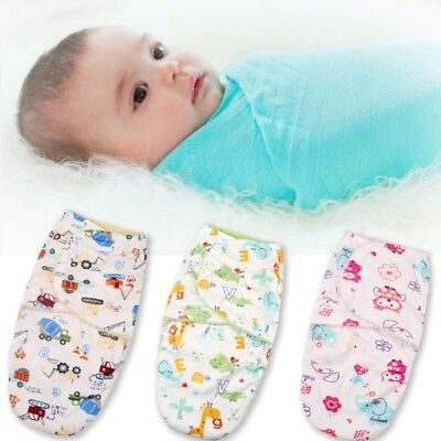 Newborn Infant Baby Cotton Swaddle Wrap Bedding Blanket  Sleeping Bag Warm Wrap