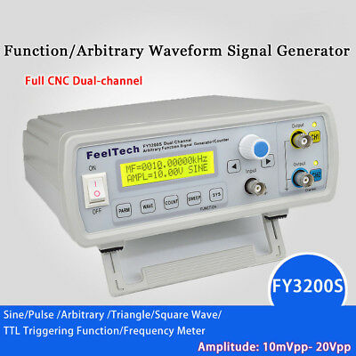 FY3200S 6-24MHz 2CH Digital DDS Function Signal Generator Frequency Counter UK