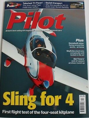 Pilot Magazine 2018 December Airplane Factory Sting 4,Piper PA22/20 Pacer,PC-12