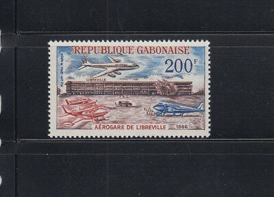 Gabon 1966 Airport  Sc C49 Complete Mint NEVER Hinged