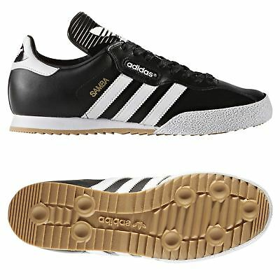 new product 091ae f8caf adidas ORIGINALS MEN S SAMBA SUPER TRAINERS BLACK RETRO CLASSIC LEATHER  SHOES