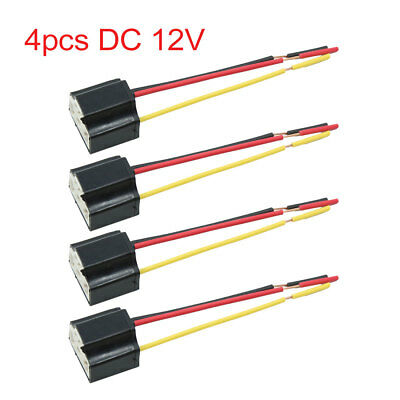 car h4 headlight headlamp relay wiring wire harness 2 light bulb h4  connector diagram 4pcs dc