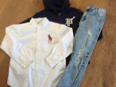 Ralph Lauren River Island Boys Small Bundle / Outfit 6-7Yrs Shirt Hoody Jeans