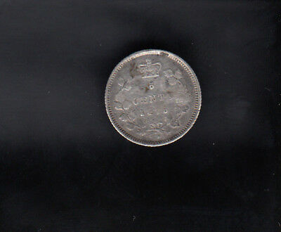 1875H Canada Silver 5 Cents