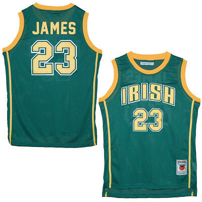 new style e821d 0e9f7 ST. VINCENT - St. Mary Fighting Irish Lebron James Green High School Jersey