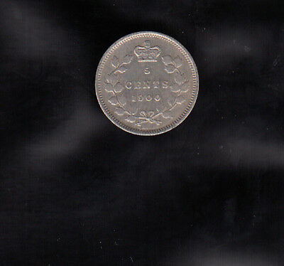 1900 Ld Canada Silver 5 Cents