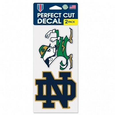 Notre Dame Fighting Irish 2 Pack Color Decal Set