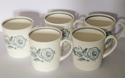 """6 x Susie Cooper """"Peony"""" coffee cups - Wedgewood -Excellent Condition"""
