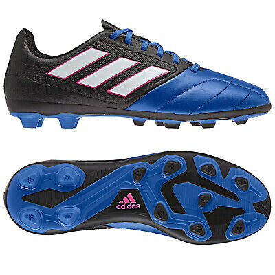 Adidas Ace 16.4 Junior Boys Lace Up Black Football Trainers Boots AF5046 D26