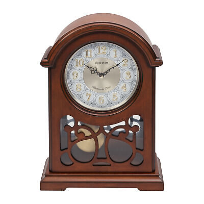 Wooden Broken Arch Pendulum Mantel Table Clock Westminster Chime & Melodies