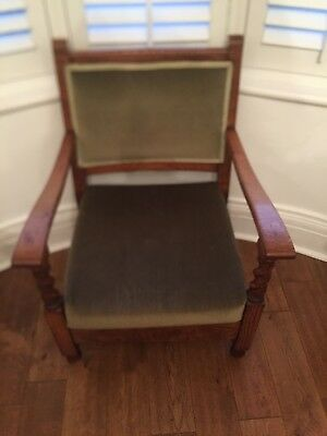 Edwardian Chair With Barley Twist On Top Part Of Legs