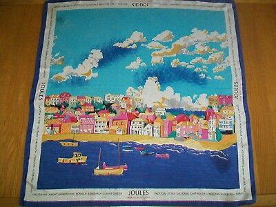 Joules. From Shire To Shore. Gorgeous Seaside Themed Design Vintage Silk Scarf