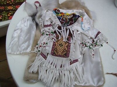Alte Puppenkleidung Native American Dress Outfit vintage Doll clothes 50 cm Girl