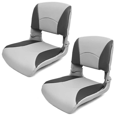 Deluxe Boat Folding Seats 75113GC | All Weather Gray Charcoal (Pair)