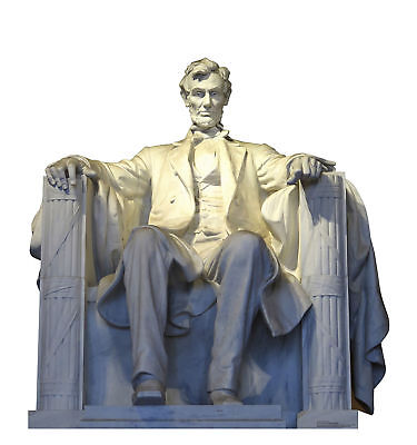 Abe Abraham Lincoln Memorial Statue Standup Standee Cardboard Cutout Poster