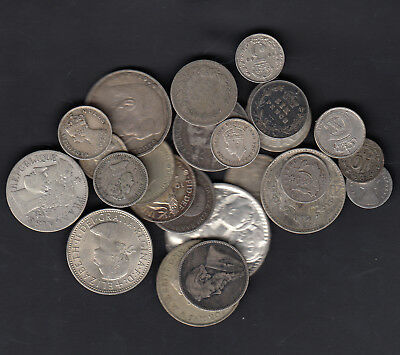 1874-1963 World Silver Coins Lot Of 25