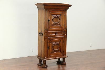 Dutch Oak Antique 1790 Tobacco Cupboard or Pantry Cabinet #29912