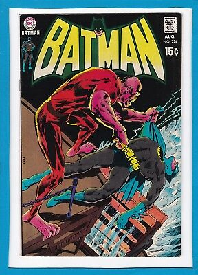 """Batman #224_August 1970_Very Fine Minus_""""carnival Of The Cursed""""_Bronze Age Dc!"""
