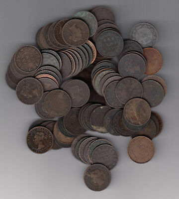 1859-1901 Canada Large Cents Lot Of 100