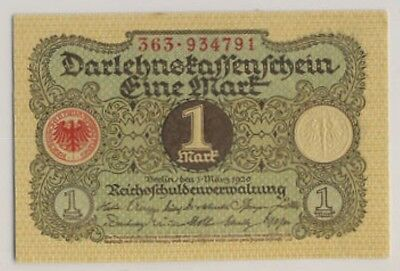 Germany 1920 #58 1 Mark Weimar Republic CU