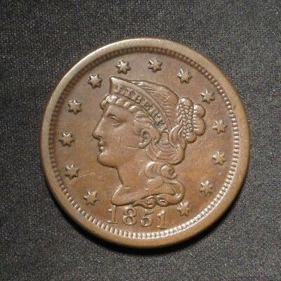 1851 Large Cent 1¢- XF