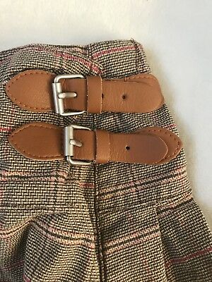 CUTE Baby Gap Plaid Wrap Skirt Learher Buckle Toddler Girl 12-18 Months DETAILS