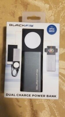 BlackFin Apple Watch Dual Charge Power Bank 5200 mah battery NEW IN BOX
