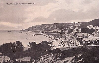 x wales welsh early old antique  postcard united kingdom british mumbles