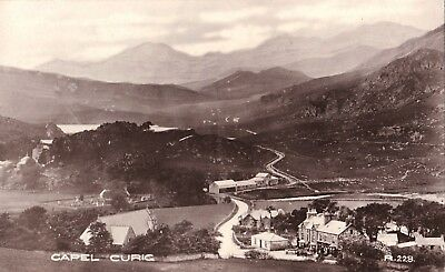 x wales welsh early old antique  postcard united kingdom british capel curig