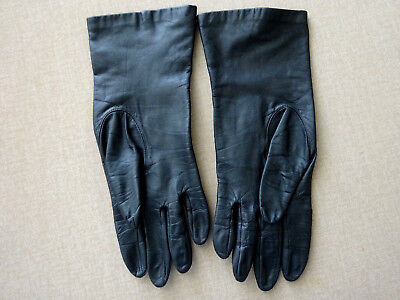 Vintage Womens Leather Gloves With Silk Lining, Size 7, Italy?