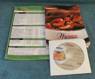 New Nuwave Convection Oven Cookbook, Quick Start Guide, DVD - Replacement Part