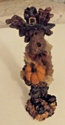 Boyds Bears & Friends Folkstone Collection Resin Figurine~Thanksgiving Icabod