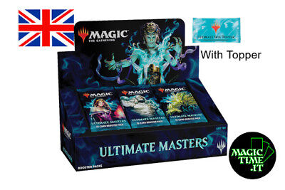 BOX 24 Buste Magic ULTIMATE MASTERS ENG Mtg with Topper - snapcaster, Liliana