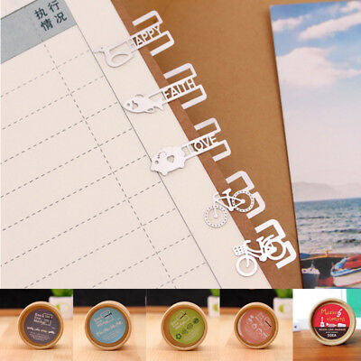 20pcs Metal Music Element Bookmarks Paper Clip Office Student Stationery Cute