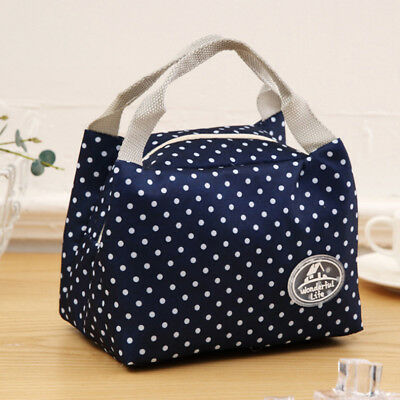 Insulated Thermal Cooler Lunch Box Carry Tote Kids Picnic Case Storage Bag LG