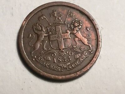 INDIA BOMBAY PRESIDENCY AH1248 1933 1 Pie coin excellent, bad dig near scale