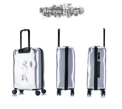 E969 Silver Coded Lock Universal Wheel Travel Suitcase Luggage 24 Inches W
