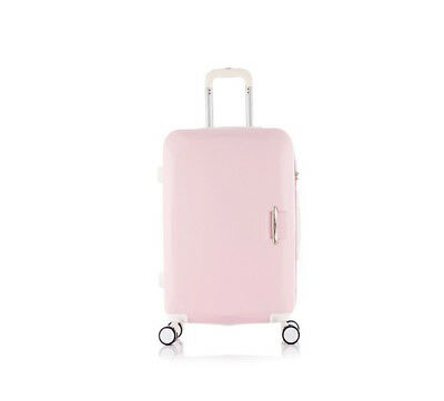 E850 Pink Universal Wheel ABS Coded Lock Travel Suitcase Luggage 22 Inches W