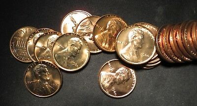 (50 pcs) 1960-P Small Date Lincoln Cent Roll- GEM BU- SCARCE DATE!